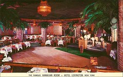 TIKI BAR RESTAURANT Hotel Lexington NYC (1950sUnlimited) Tags: travel ny fun bars sightseeing restaurants leisure 1960s vacations inns midcentury lobbies lounges postcardes
