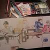 Sigfreds Kaffebar (Froydir) Tags: cameraphone moleskine denmark cafe sketching sketchbook watercolour aarhus 2013 sketchkit sketchbreak instagramapp uploaded:by=instagram