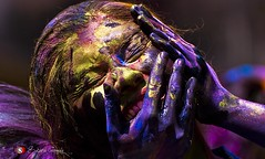 Happy Holi ; festival of color (SUBHROCLiCKS) Tags: life people artist play earth joy streetphotography bengal calcutta vermillion travelphotography differentmoods 2013 festivalofcolor happyholi peopleofindia nikond80 uttarpara subhroclicks subhroganguly basantoutsab
