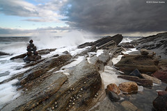 Waves and weather at Seafield (SwaloPhoto) Tags: beach clouds coast scotland rocks waves fife coastal northsea foam inukshuk canoneos firthofforth limpets kirkcaldy bythesea seafield weatherfront someonewashere picturestyles leefilters 5dmkii distagont2821ze nordicharvest