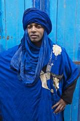 Berber Man in Blue, Essaouira (Peter Cook UK) Tags: blue man morocco berber turban essaouira