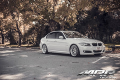 BMW_E90_MRR_GT7_WHEELS_05 (MRR WHEELS) Tags: white silver wheels bmw hyper hs concave bimmer mrr e90 gt7 335i