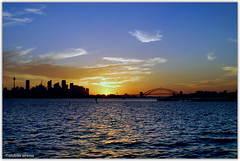 Sydney Sunset ('DRIN) Tags: sunset reflection sunrise landscape sydney harbourbridge sydneyharbour sydneyskyline drin sydneysunset aldrinarena