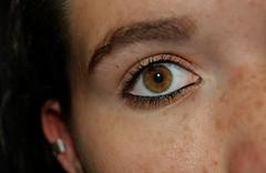 Eye (Abi Lowe) Tags: selfportrait macro eye flash flashphotography hazeleyes freckles browneyes