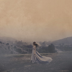 the whistle of wind on a quiet morning (brookeshaden) Tags: mountains texture nature fog photography natural wind fineartphotography foggymorning conceptualphotography flowingdress brookeshaden shadentextures