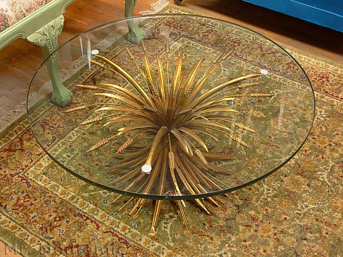 mr. modtomic: this wheat sheaf hollywood regency coffee table is