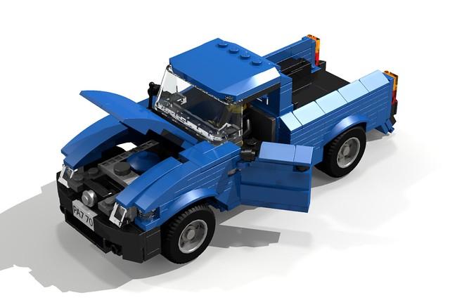 auto car truck model render pickup toyota tacoma challenge 65 cad lugnuts moc motorcity ldd toyotatacomatime
