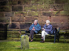 405_2697_13-04-13 (homewurks) Tags: people woman man male church grave saint st stone lady female yard john bench relax photography back sand sandstone all sitting cheshire seat mary great relaxing saints rail crisp pack crisps backpacks sit backpack rails gravestone ready rest churchyard packet resting gt adults seated plain walkers railings hopkins packets salted packs comberbach budworth homewurks