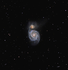 M51 28/05/12 (ShoulderOps) Tags: light spiral eos unmodified space deep clip telescope filter galaxy pollution canes goto pro astronomy m51 galaxies phd dss cls guiding cs3 skywatcher 200p ngc5195 venatici heq5 pixinsight 1000d astronomik qhy5