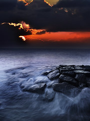 rocks in sunset, port melbourne (john@aus) Tags: