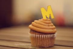 M (Fajer Alajmi) Tags: wood caramel cupcake letter