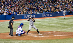 Francisco Cervelli at the Plate (Paul Katcher) Tags: canada sports baseball newyorkyankees mlb torontobluejays rogerscentre franciscocervelli