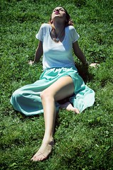 Like in Eden (serscop) Tags: woman green girl beautiful canon legs cutie 500d canon500d