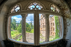room with a view (RNEP) Tags: castle window view fenster fisheye historical mansion schloss hdr burg urbex