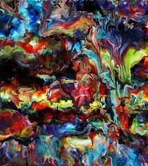 Acrylic Fluid Painting 68 (markchadwickart) Tags: blue red white abstract black color colour green art water yellow modern work painting flow photography photo colorful paint artist acrylic purple bright mark contemporary vibrant fine vivid fluid painter flowing colourful process technique liquid chadwick fluidity