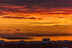 Sunset in Reykjavik Iceland (Einar Schioth) Tags: sunset sea summer sky cloud sunshine night clouds canon landscape evening coast photo iceland outdoor ngc picture reykjavik sland nationalgeographic einarschioth