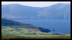 Kinard and beyond (Neil Tackaberry) Tags: kinard county co kerry countykerry cokerry irish scene scenery view ireland 16x9 fields green morning haze dinglepeninsula field landscape hill hills mountains mountain outdoor pasture grassland sea stack seastack farmland