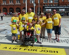 20160723 A Lift for Josh in Blackpool (blackpoolbeach) Tags: charity walk craig josh bridlington blackpool comedy carpet stairlift justgiving furniss promenade tower