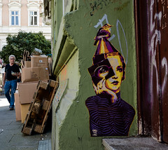 HH-Wheatpaste 3033 (cmdpirx) Tags: hamburg germany reclaim your city urban street art streetart artist kuenstler graffiti aerosol spray can paint piece painting drawing colour color farbe spraydose dose marker stift kreide chalk stencil schablone wall wand nikon d7100 paper pappe paste up pastup pastie wheatepaste wheatpaste pasted glue kleister kleber cement cutout