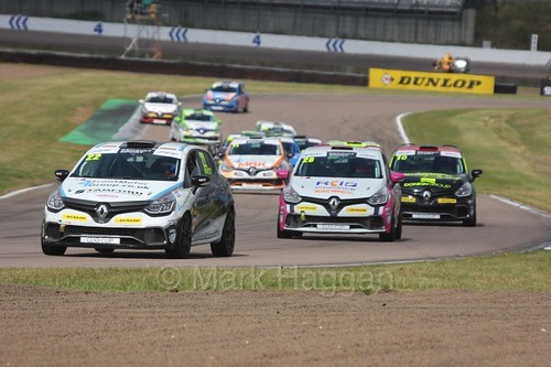 Paul Rivett at Rockingham during the Clio Cup, August 2016