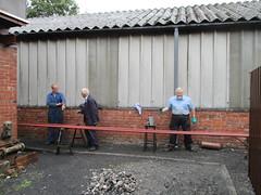 Painting The Banwy Bridge (Tanllan) Tags: welshpool llanfair light railway railroad heritage steam train wales painters painting