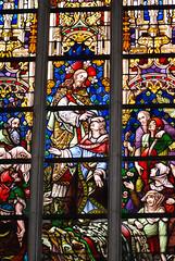 Jesus heals the sick (quinet) Tags: 2014 belgium ghent glasmalerei stainedglass vitrail antwerp flanders