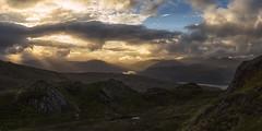 The Dying of the Light (J McSporran) Tags: scotland trossachs sunset landscape sunbeams canon6d