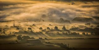 Foggy Freuchie at sunrise