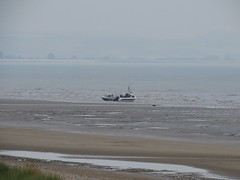 3547 09:39 the sea has surrounded the boats (Andy panomaniacanonymous) Tags: 20160818 aaa anglersboat bbb beach boat kent littlestoneonsea romneysands sand sss