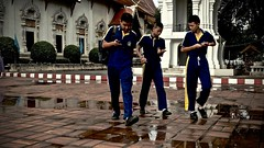 The School Exit - Chiang Mai (christophe plc) Tags: xf1855mmf284 r lm ois fuji xt1 chiang mai thailand town city people boy sport scool ecole temple friend telephone smartphone young jeune asian asia asie
