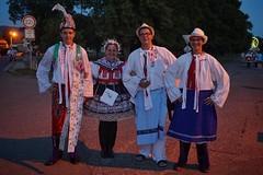 Traditional seasonal celebrations of Moravia (beyondhue) Tags: moravia village czech republic tradition dress peole man woman embroidered beyondhue travel celebration kroj morava street night dark outside