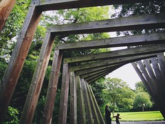 Tim Burton Archway (DigitalMB) Tags: daughter wife barnes wood wooden family park timburton archway trees sunderland street