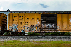 (o texano) Tags: houston texas graffiti trains freights bench benching a2m adikts