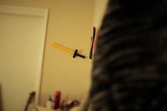 hat (julietkitz) Tags: hat sword wall room warm warmtones