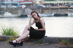 DP1U0238 (c0466art) Tags: charming attractive ukraine girl dasha keelung photography society portrait activity black long tight skirt elegant pose action cool feeling light canon 1dx c0466art