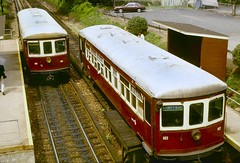 Strafford Cars #168 & #162 (en tee gee) Tags: septa cars old electric red philadelphia