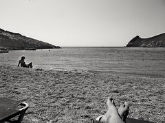 Relax under the sun!!! (panoskaralis) Tags: beach tarti swimm swimming girl shore coast sun sunlight relax blackandwhite blackwhite bw lesbos lesvosisland lesvos mytilene greece greek hellas hellenic aegeansea aegean summer greeksummer summerholidays holidays nature