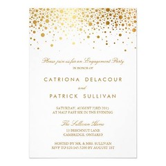 (Faux Gold Foil Elegant Engagement Party Invitation) #Classic, #Classy, #Confetti, #Elegant, #Engagement, #EngagementParty, #Fancy, #Faux, #Formal, #Gold, #GoldFoil, #Modern, #Shimmer, #Shine, #Trendy, #Typography, #WeddingShower is available on Custom Un (CustomWeddingInvitations) Tags: faux gold foil elegant engagement party invitation classic classy confetti engagementparty fancy formal goldfoil modern shimmer shine trendy typography weddingshower is available custom unique wedding invitations store httpcustomweddinginvitationsringscakegownsanniversaryreceptionflowersgiftdressesshoesclothingaccessoriesinvitationsbinauralbeatsbrainwaveentrainmentcomfauxgoldfoilelegantengagementpartyinvitation weddinginvitation weddinginvitations