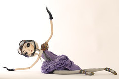 Chloe go round (fantoche art dolls) Tags: fantoche oana micu art dolls papusi objects theatrical costumes doll stand scenography magical nostalgia