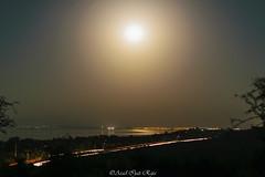 Moonlit Lake-view (Asad Ijaz Raja) Tags: night moon view lake trails traffic lighttrail fullmoon longexposure pakistan azadkashmir kashmir nikon d5300 1855mm kitlens