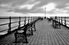 Before the rush! (Nathan J Hammonds) Tags: dorset bench sea coast monchrome perception nd 10stop long exposure nikon d750 empty