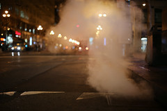 037/365 a steamy night (ajbrusteinthreesixfive) Tags: sf road street cloud st night canon project dark underground subway aj grate lights evening photo san francisco downtown dragon market bokeh mark smoke iii steam 5d 365 shape photoproject brustein 366 threesixfive threesixsix 5dm3