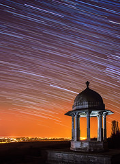 (drfugo) Tags: streets monument grass stone night stars lights memorial brighton hill rotation streaks firstworldwar southdowns startrail chattri patcham sigma28mmf18exdg canon5dmkii