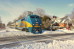VIA 904 (Ramblings From The 4th Concession) Tags: winter via viarail ge passengertrains diesellocomotives gelocomotives p42dc gexr guelphsub guelphont canonrebelxsi via904 canon18135stmlens winterontherailroad