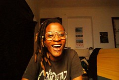 ME. TERRYA RICHARDSON. (bluespit) Tags: me dreadlocks myself locks piercings dreads rastas bigglasses gafotas mujernegra
