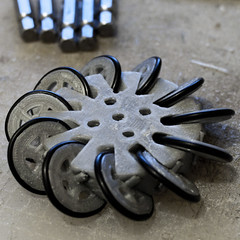 one wheel (nand_) Tags: wheels oring orings 3dprinted mechanumwheels mechanum