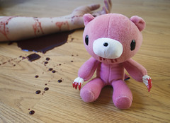 Murder (ikissbunnies) Tags: pink cute toys blood funny gloomy murder gloomybear