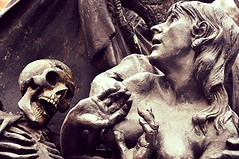 Fear (sfPhotocraft) Tags: sculpture statue germany skeleton bavaria death europe fear nuremberg 2013