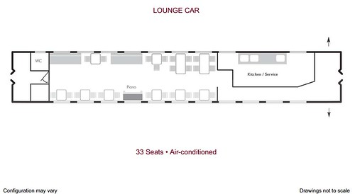 Danube Express - Lounge Car plan