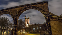 Stoke Minster [EXPLORED] (Raven Photography by Jenna Goodwin) Tags: longexposure church night clouds dark photography god religion stokeontrent pottery minster staffordshire stoke